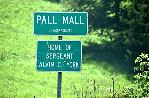 York Poster Sergeant - Laminated Poster Pall Mall Tn Sign Sergeant York Hometown Pall Mall Poster Print 11 x 17