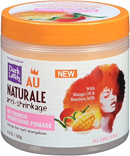 - Curly Hair Products by SoftSheen-Carson Dark and Lovely Au Naturale No Crunch Nourishing Pomade, Mango Oil and Bamboo Milk, Restores Softness and Maintains Shine, No Crunch, Paraben Free, 14.4 oz