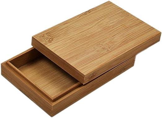 Finelyty Caja De Madera De Bambú con Tapa, Caja De Almacenamiento De Herramientas, Caja De Joyas Marrón Natural: Amazon.es: Hogar