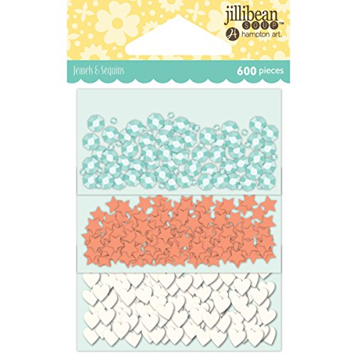 Hampton Art Jillibean Soup Shaker Card Sequin Pack-Watercolor W/Shapes, ()