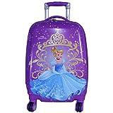 Texas USA 18 inch PRINCESS4 Printed Polycarbonate 4 wheel Kids Trolley Bag