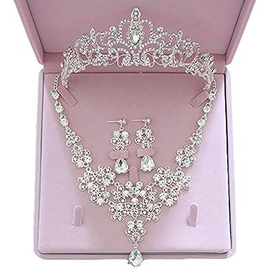 Buy Easybuy India Crystal Bridal Jewellery Ornaments Set For Women