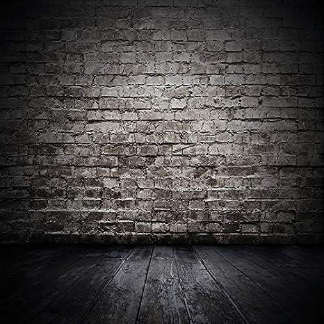 8x6 FT Black Wooden Photo Backdrop Fabric Photography Backdrop Antique Brick Wall Studio Background Custom Birthday Party Photographic Photo Studio 10-391