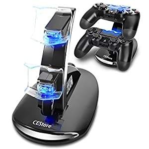 CEStore Dual USB Charging Charger Docking Station Stand for Playstation 4 PS4 Controller