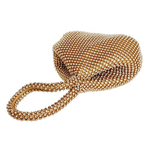 à Sac à soirée Sac Lady gold Sacs Mariage Style Main Ouverte Doux Main Femmes Sacs KYS de perlé de Embrayage Couverture qTxY7Ba
