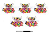 Charles Leonard Eraser Caps, Assorted Colors, 144/Box, Sold as 5 Boxes (71544)