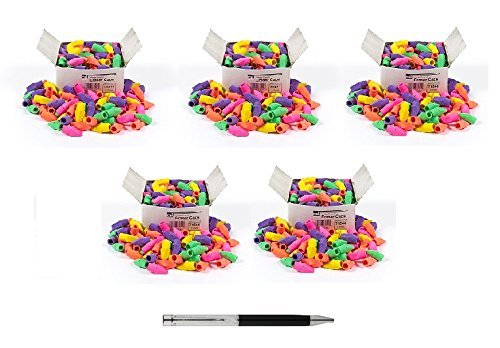 Charles Leonard Eraser Caps, Assorted Colors, 144/Box, Sold as 5 Boxes (71544) by Charles Leonard (Image #1)