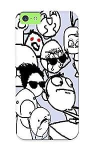 LJnhT0VbDrt New Premium Flip Case Cover Blue Meme Skin Case For Iphone 5c As Christmas's Gift