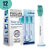 #10: Sonimate Generic Philips Sonicare HX6710 HX6930 HX6530 HX6210 Replacement Heads ProResults (12 Packs) Fits DiamondClean HealthyWhite Easyclean Flexcare Plaque Removal Gum Health