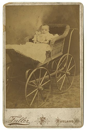 19th Century Children - Original 19th Century Cabinet Card - Rutland, Vermont Vermont Cabinet
