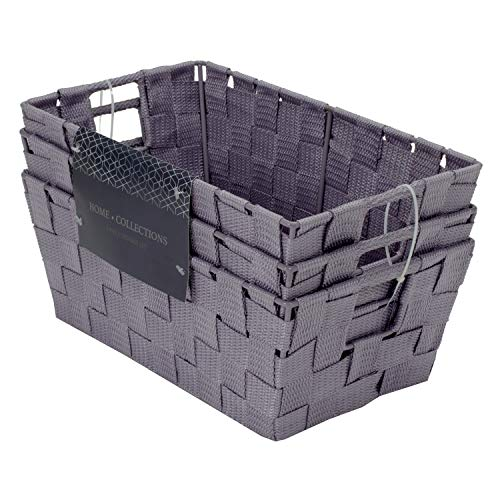 Home Expressions 3 Piece Set Woven Storage Bins 12
