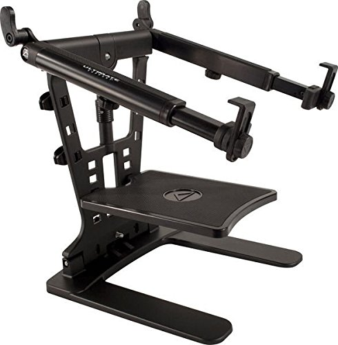 Ultimate Support Hyperstation QR Hyper Series Desktop and 5/8' Thread Mountable Laptop/DJ Stand