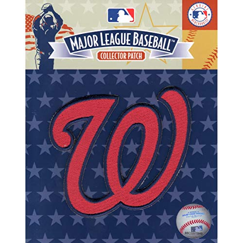 (Emblem Source Washington Nationals Red W Hat MLB Logo Patch Officially Licensed)