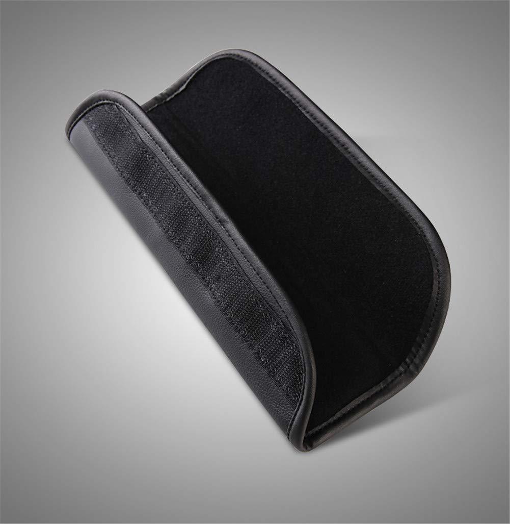 Cuscinetti per cintura di sicurezza Morbido primo strato in pelle Cintura di sicurezza Spallina auto auto cintura di sicurezza Spallacci Copricuscino Copricuscino-Nero Hunterian 2pcs