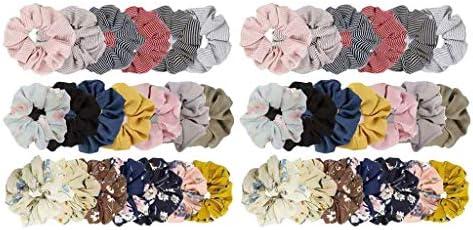 Sharprepublic Haarelastiekjes elastisch van stof voor paardenstaart voor dames en meisjes 40 stuks