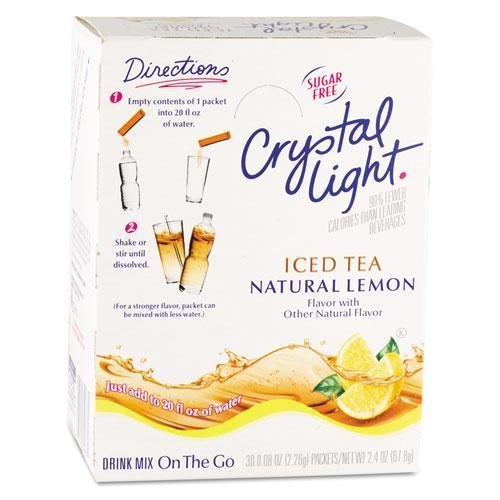 Crystal Light On the Go, Iced Tea.16oz Packets, 30/Box