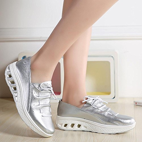 Breathable Leisure For Shoes Women,Farjing Shoes nbsp; Fashion Head Shoes Silver Sports Women Shake Round Cushion Clearance Sale Air tP6n7qx