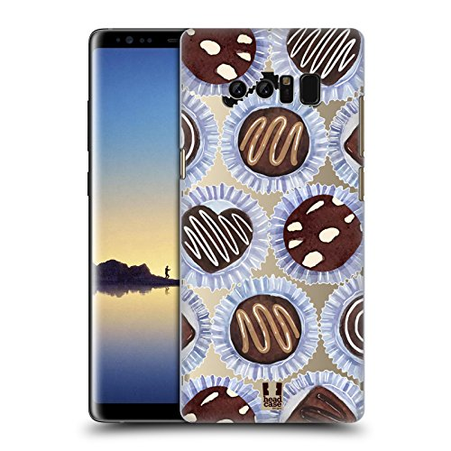 Head Case Designs Truffles Chocolate Desserts Hard Back Case for Samsung Galaxy Note8 / Note 8 (Truffle Notes)