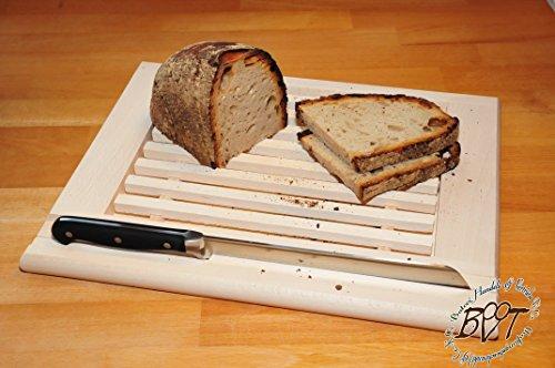 Brotschneidebrett Brotbrett 24 mm Buche-Picknick-Holzbrett klassisch mit Krümelfach + Krümelgitter / Gitter, mit herausnehmbarem Schneiderost natur, Maße viereckig ca. 36 cm x 29 cm als Bruschetta-Servierbrett, Brotzeitbrett, Frühstücksbrettchen, Bayerisches Brotzeitbrettl, NEU MASSIVE Picknick-Set Schneidebretter, Steakteller schinkenbrett rustikal, Schinkenteller von BTV, Brotzeitteller Bayern, Wildbrett, Wildbret