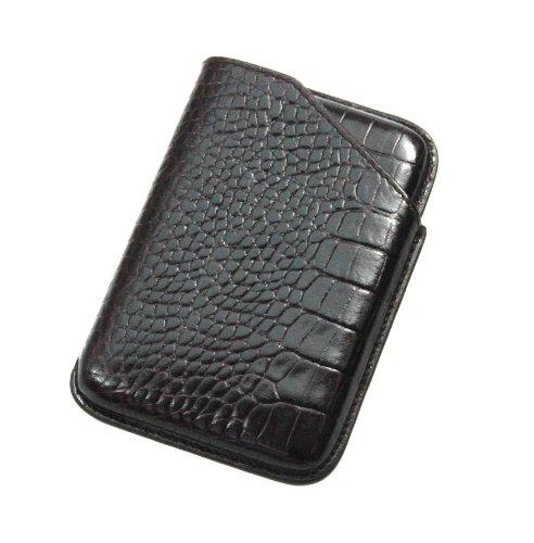 b8fef50eaa7 Lucrin Crocodile Style Sliding Business Card Holder - Black: Amazon.co.uk:  Office Products