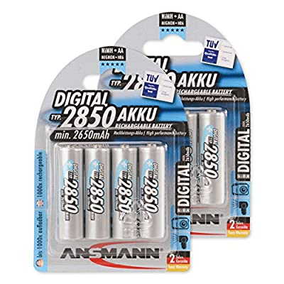 ANSMANN AA 2850 mAh Digital Rechargeable Batteries, 5035092-590-1, High Performance & Capacity