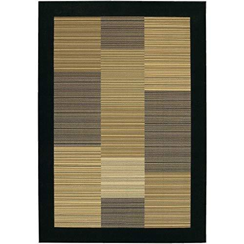 - Couristan 0766/0601 Everest Hamptons/Multi Stripe-Black 5-Feet 3-Inch by 7-Feet 6-Inch Rug