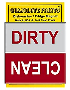 Clean Dirty Dishwasher Magnet Flip Kitchen Sign - Red and Gray Fun Novelty Gift