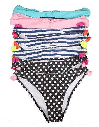ZAIQUN Moda Rayas Ba?ador Tops de Bikini y Partes de Abajo de Ropa de Playa con Lunares Surf Trajes de Ba?o Para Mujer Rosa1