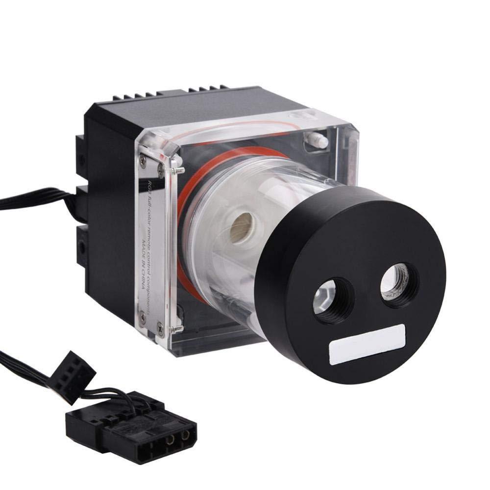 Eboxer 800L // H 8W 7V Tanque de la Bomba de Refrigeraci/ón por Agua con 4 Metros Cabeza de Bomba y LED Indicador de Alimentaci/ón G1 // 4 Rosca Disipaci/ón de Calor R/ápida CPU Negro 12cm