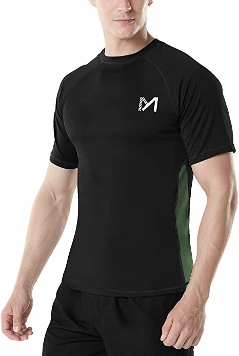 Base Layer Compression Short Sleeve Shirt Yuerlian 3 Pack Mens Running Gym Tops Quick Dry Workout T Shirts