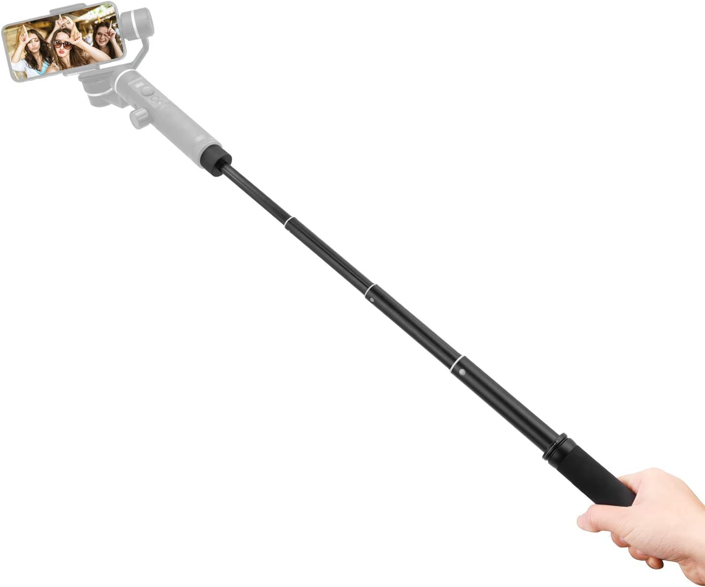 FeiyuTech V3 Handheld Stabilizer Extension Pole Stick Rod Bar with 1//4 Inch Screw Mount Max.52.8cm Long Compatible with Feiyu G6//G6 Plus//SPG2//SPG//WG2//WG2X//G5GS Gimbal