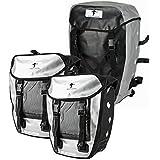 Red Loon Pro 3-fach Packtasche silber/schwarz Fahrrad Rucksack LKW-Plane Gepäckträgertasche Hecktasche wasserdicht