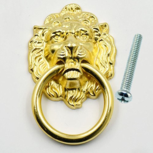 Bluemoona 10 Pcs - Vintage Lion Head Furniture Door Pull Handle Knob Cabinet Dresser Drawer 1.57