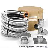 homesaver chimney liner - Homesaver 4 Inch x 35 HomeSaver Ultrapro 316Ti Liner