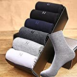 man boy autumn and winter cotton socks in tube socks absorb sweat deodorant thicker section solid color men's business socks full of thick