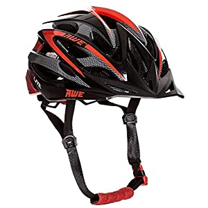 AWE AeroLite Men's Bicycle Helmet – Black/Red, Size 58-61