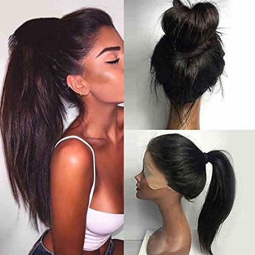 Search : Straight Synthetic Lace Front Wigs Glueless with Baby Hair for African Americans Heat Resistant Fiber Hair Density 150% 22inches