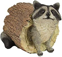 Design Toscano Bandit the Raccoon Garden Animal Statue, 10 Inch, Polyresin, Full Color