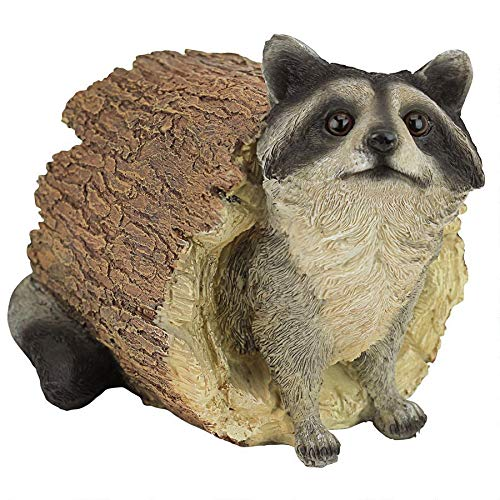 Design Toscano Bandit the Raccoon Garden Animal Statue, 10 Inch, Polyresin, Full Color from Design Toscano