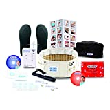 """DR-HO'S 2-in-1 Back Relief Decompression Belt Deluxe Package (Includes Pain Therapy System 4-Pad, Magic Heat Pad) BEIGE (Size A (25""""-41""""))"""