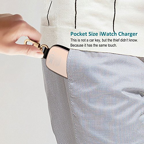 FLAGPOWER Portable Wireless Apple Watch Magnetic Charger, [Apple MFI Certified] Pocket Sized Keychain for Travel, Built in Power Bank for iWatch, Compatible with Apple Watch Series 3/2/1/Nike+ by FLAGPOWER (Image #5)