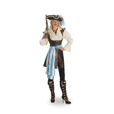 Disfraz de pirata para mujer - chaqueta con blusa y banda, traje ...