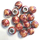 Hand Painted Beads 12.7 mm - Pack Of 40