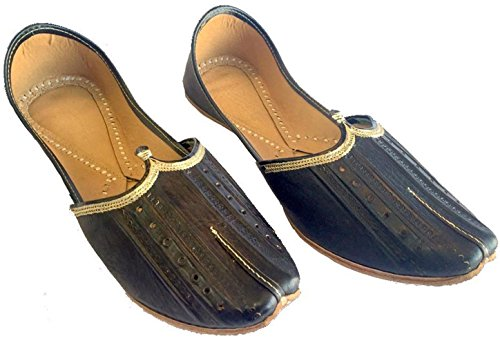 Steg N Utformar Man Rent Buffalow Läder Mjuk Khussa Skor Punjabi Jutti Mojari