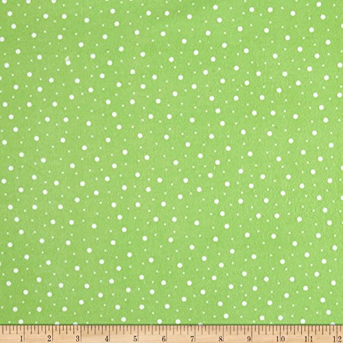 Maywood Studio Kimberbell Lil' Sprout Flannel Too! Random Dots Cool Green/White Fabric By The (Flannel Maywood Studios)