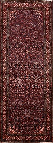 Rug Source Vintage Floral Hamedan Hand Knotted Persian Runner Rug 10 Ft Long For Hallways (10' 0'' x 3' (Hamedan Persian Hand Knotted Rug)