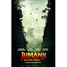 JUMANJI: WELCOME TO THE JUNGLE (2017) Original Authentic Movie Poster 27x40 - DS - Dwayne Johnson - Jack Black - Kevin Hart - Learn Gillan