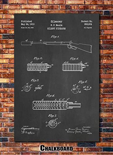 (Maxim Silencer Patent Print Art 1910)
