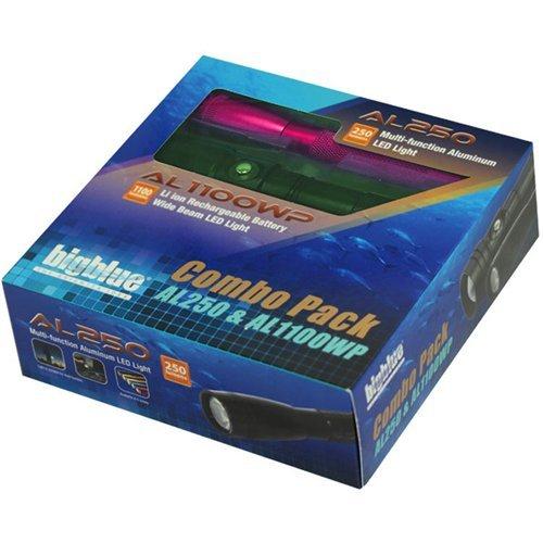 big blue dive lights dive light combo pack al1100wp al250 black. Black Bedroom Furniture Sets. Home Design Ideas