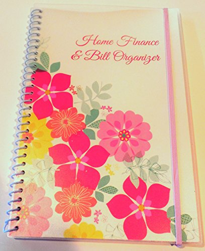 Home Finance amp Bill Organizer with Pockets Flowers
